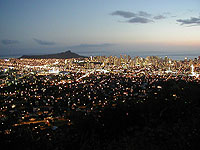 View of Honolulu from Tantalus.